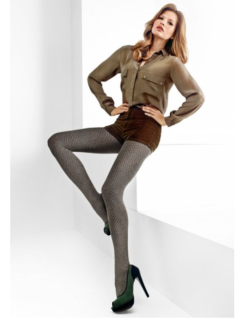 Women's patterned tights GISELLE C01 80DEN Marilyn