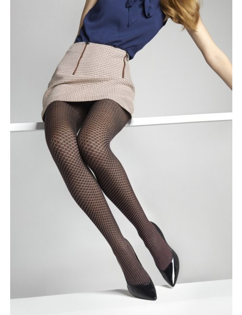 Women's patterned tights FLORES J16 40DEN Marilyn