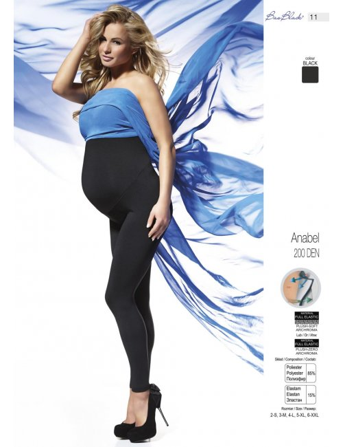 Maternity leggings ANABEL 200DEN