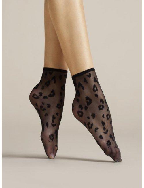 Women's patterned socks DORIA 8DEN Fiore
