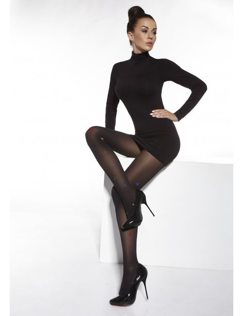 Women's patterned tights MARTHE 40DEN Adrian