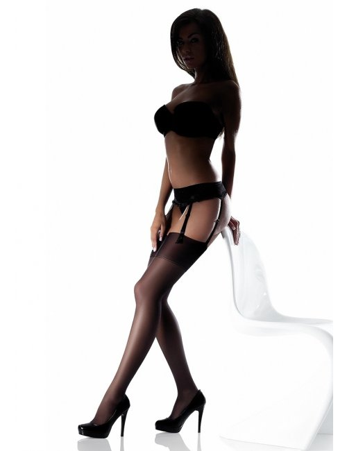 Women's stockings on garter belt AKTE 2 15DEN Marilyn