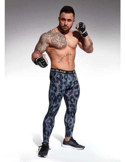 Men's sports leggings ALIEN BasBleu