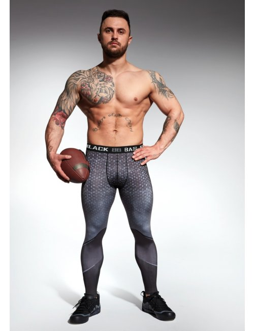 Men's sports leggings HARDMEN BasBleu