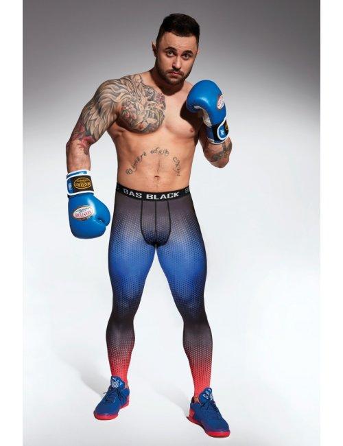 Men's sports leggings QUANTUM BasBleu
