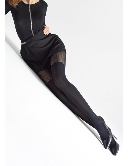 Black tights with lurex ZAZU W04 20/60DEN Marilyn