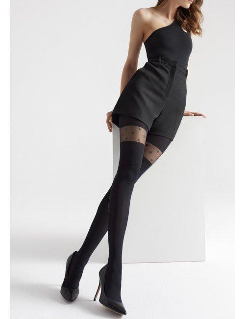Patterned tights with stars ZAZU W01 Marilyn