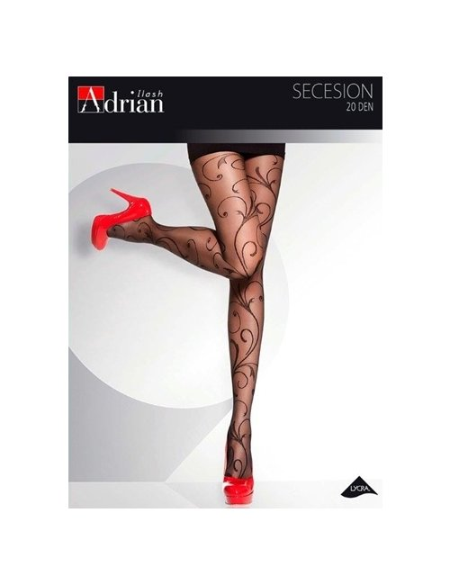 Women's patterned tights SECESSION 20DEN Adrian