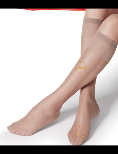 Women's knee-high stockings CIAO 20DEN Golden Lady