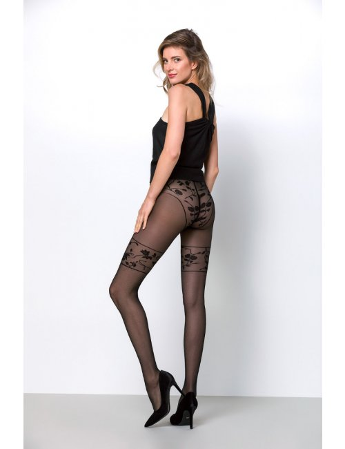 Women's patterned stockings CLAIRE 20DEN Knittex