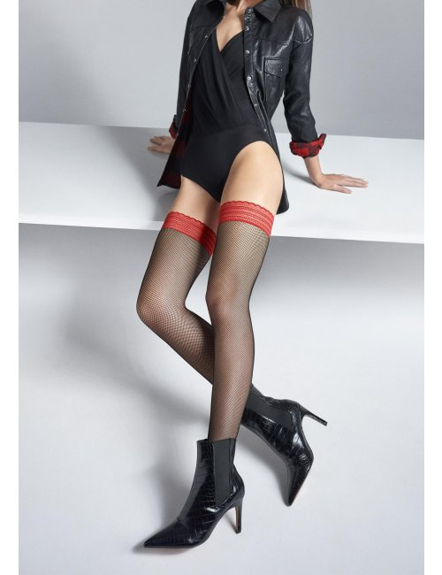 Women's fishnet self-hold stockings COCO S03 Marilyn