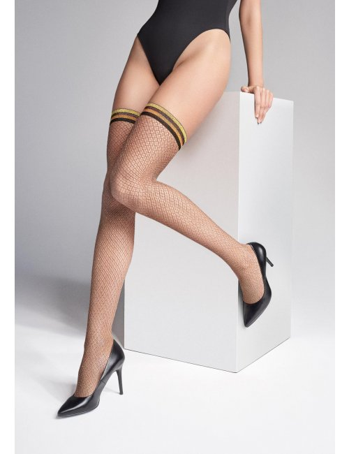 Women's fishnet self-hold stockings COCO S12 Marilyn