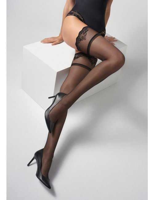 Women's fishnet self-hold stockings COCO T25 Marilyn
