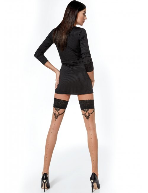 Women's patterned hold-ups DOMINIQUE 20DEN Adrian
