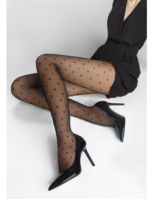 Women's dotted stockings FLORES DOTS 02 20DEN Marilyn