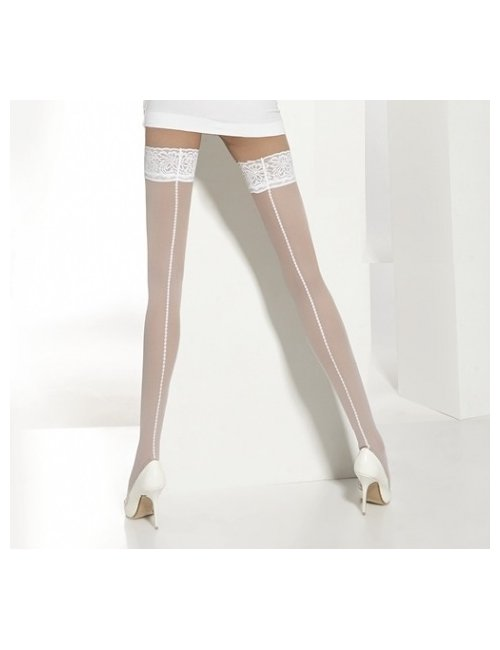 Women's wedding self-hold stockings ELLENAI 20DEN Adrian