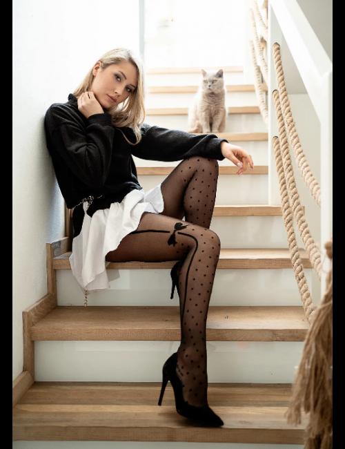 Women's patterned stockings EMOTION 20DEN Knittex