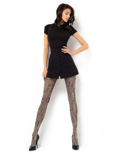Women's patterned tights ESTERA 60DEN Mona