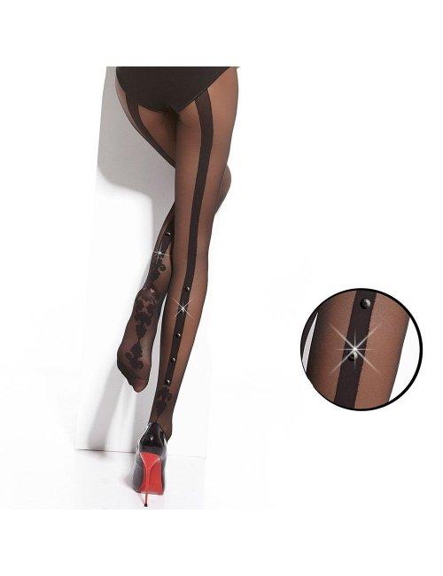 Women's patterned tights FLAVIE&STONES 20DEN Adrian