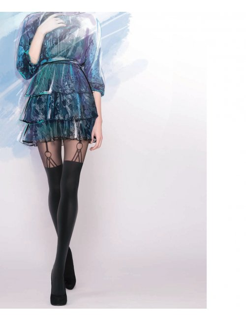 Women's patterned tights GIRL UP 26 20/40DEN Gatta