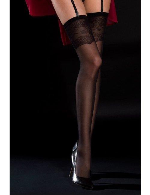 Women's stockings on a garter belt GLAM05 20 DEN Knittex