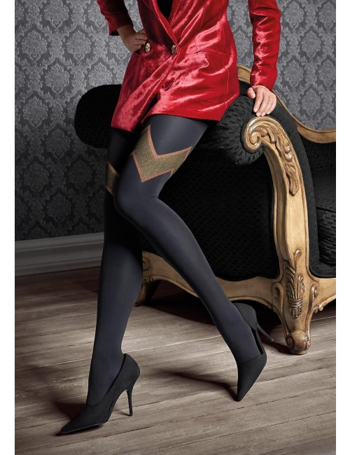 Women's patterned stockings GUCCI G48 60DEN Marilyn