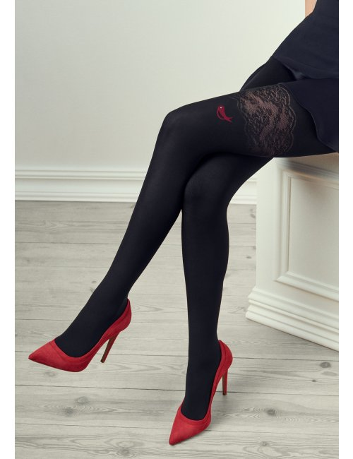 Women's patterned tights GUCCI G32 60DEN Marilyn