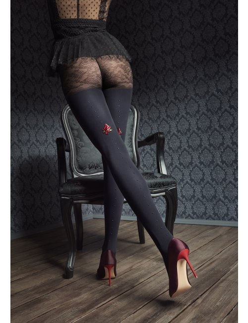 Women's patterned tights GUCCI G45 60DEN Marilyn