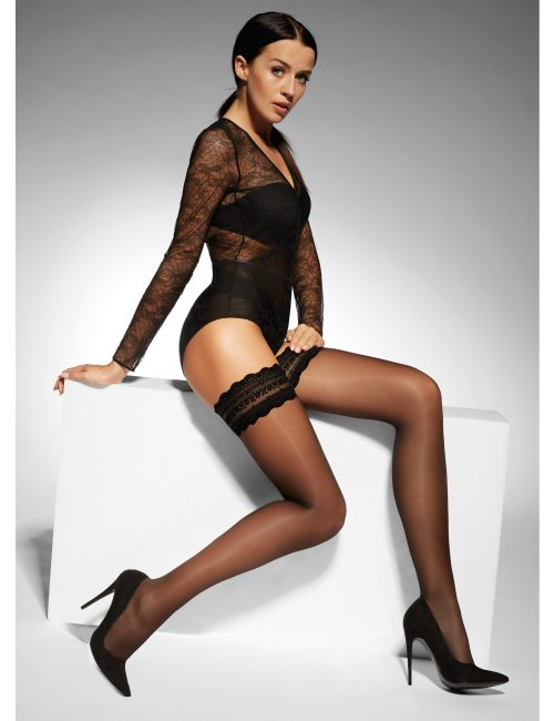 Women´s self-supporting stockings KATE 20DEN Adrian