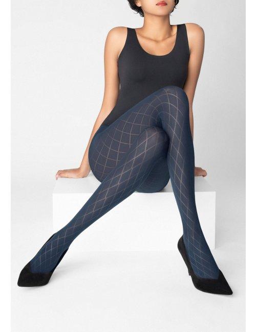 Women's patterned tights GRACE T03 60DEN Marilyn