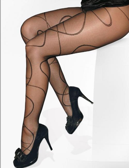 Women's patterned stockings LAGUNA 20DEN Adrian