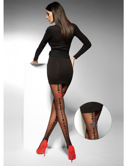 Women's patterned tights LIDIA 20DEN Adrian