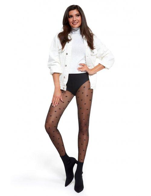 Women's patterned stockings LOU 20DEN Adrian
