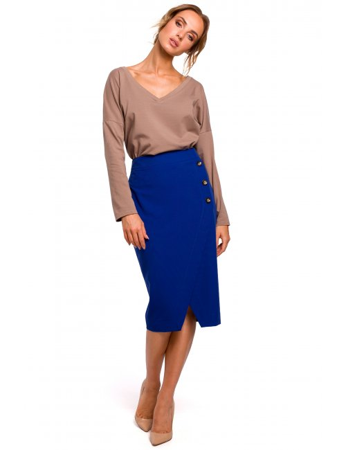 Elegant Pencil Skirt M454 MOE
