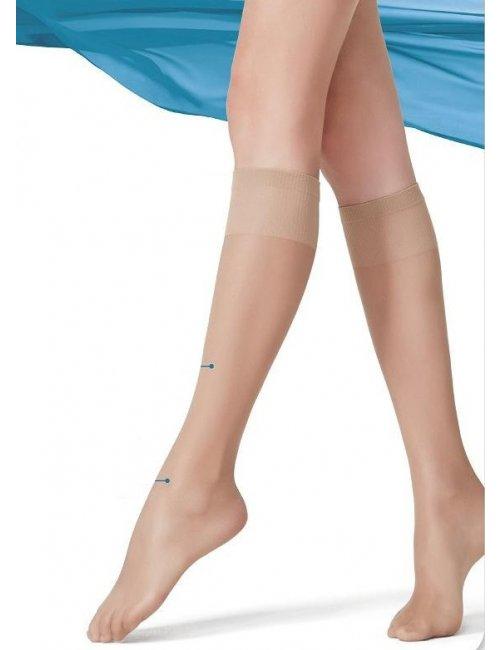 Women's knee-high stockings MINI COMFORT 20DEN Golden Lady