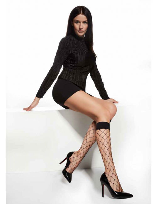 Women's fishnet knee-high stockings OCTAN 20DEN Adrian