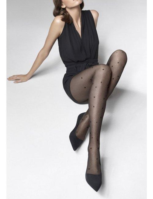 Women's patterned stockings EMMY R08 20DEN Marilyn