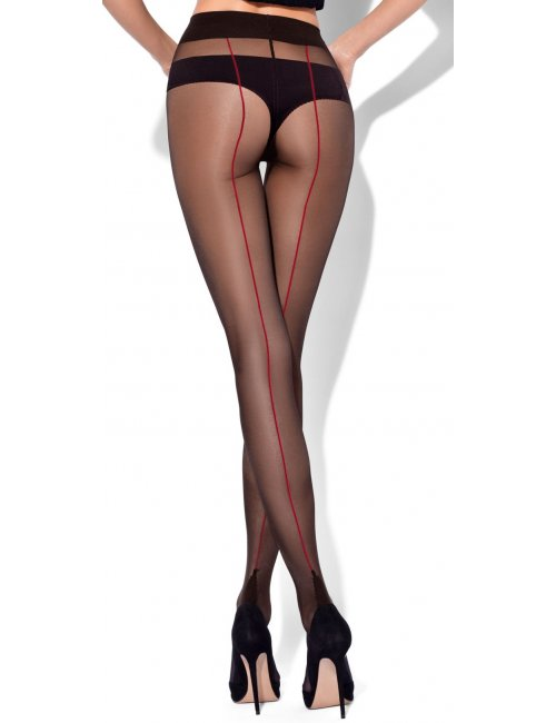 Women's patterned tights DELICE 20DEN Mona