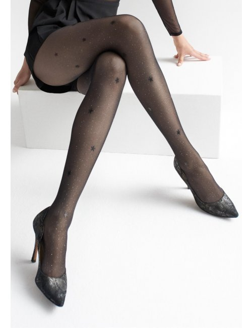 Patterned tights  with glitter and stars EMMY W13 20DEN Marilyn