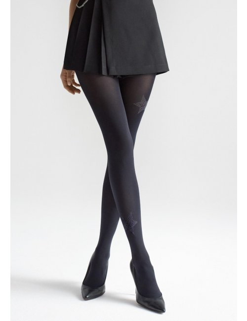 Patterned tights with stars ALLURE W07 60DEN Marilyn