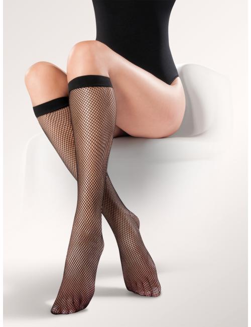 Women's fishnet knee-high stockings KABARETKI 151 Gabriella