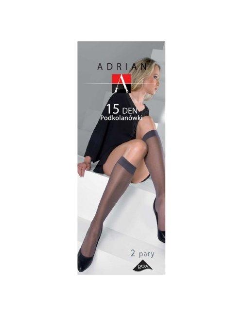 Women's knee-high stockings LYCRA 15DEN Adrian