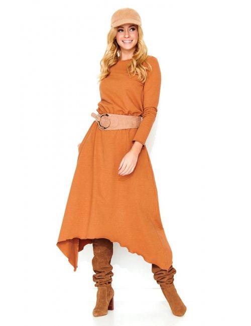 Women's maxi dress M466 Makadamia
