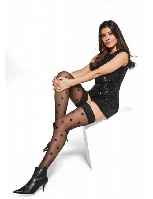 Women's self-holding stockings POLKA 20DEN Adrian