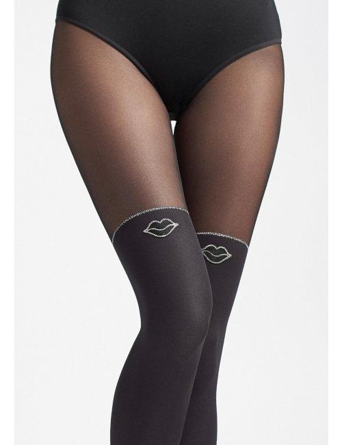 Women's patterned tights ZAZU KISS T01 20/60DEN Marilyn