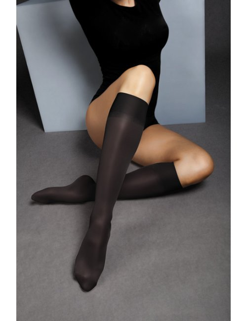 Women's compression knee-high stockings RELAX 140DEN Maxis
