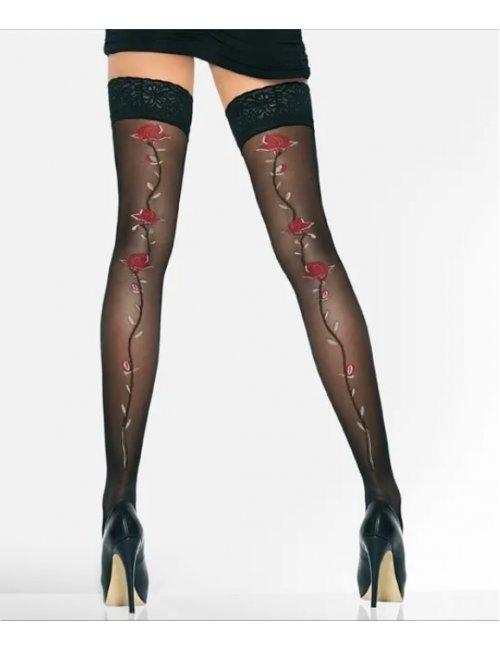 Women's self-holding stockings ROSETTE 20DEN Adrian