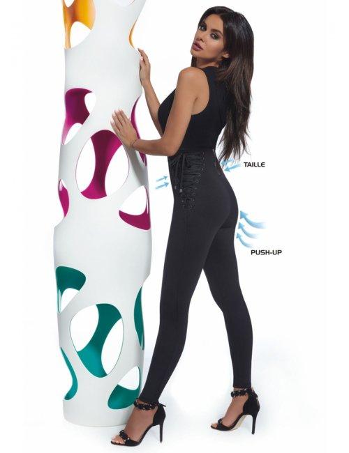 Women´s slimming leggings SANSA 200DEN BasBleu