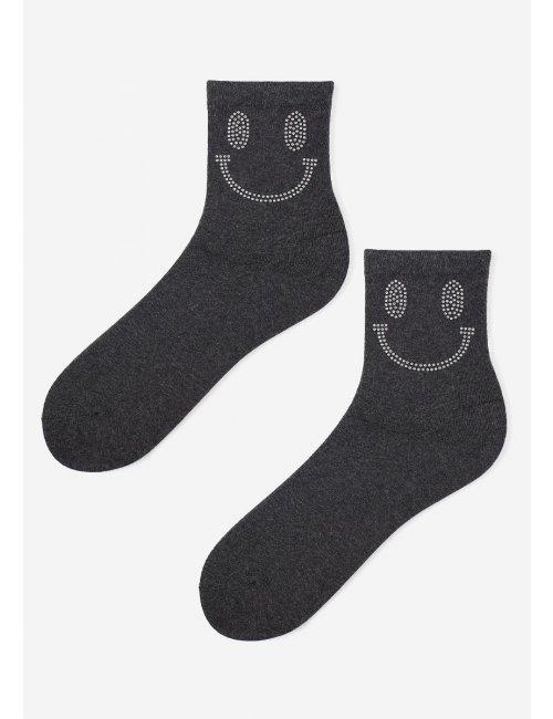 Women's patterned socks SILVER SMILEY Marilyn