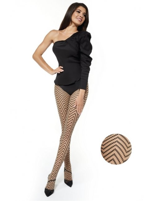 Women's patterned tights SONIA 30DEN Adrian